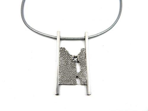 Halskette Beschichtung Rhodium mit Glaskristall
