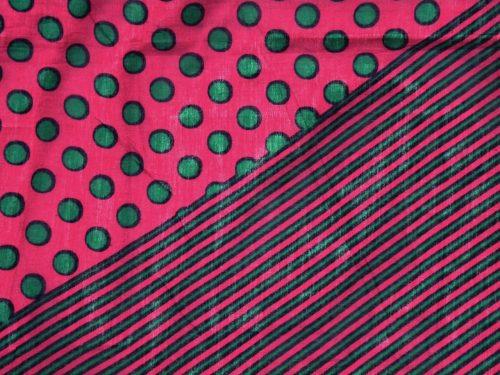 Schal Baumwolle Fuchsia Dots and Linien