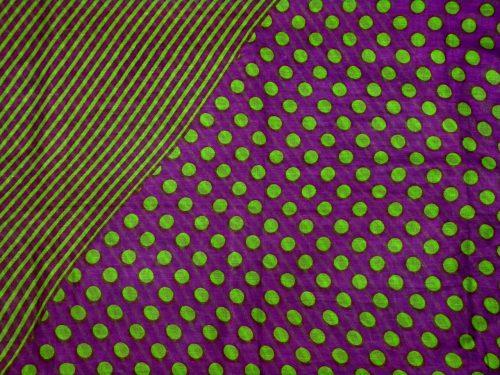 Schal Baumwolle lila grün Dots and Linien