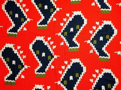 Schal Polyester rot grau