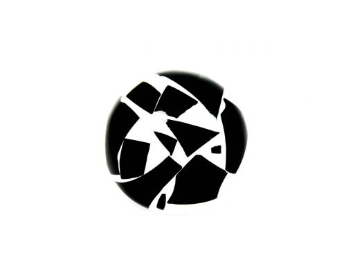 Ring Harz Mosaik schwarz weiss