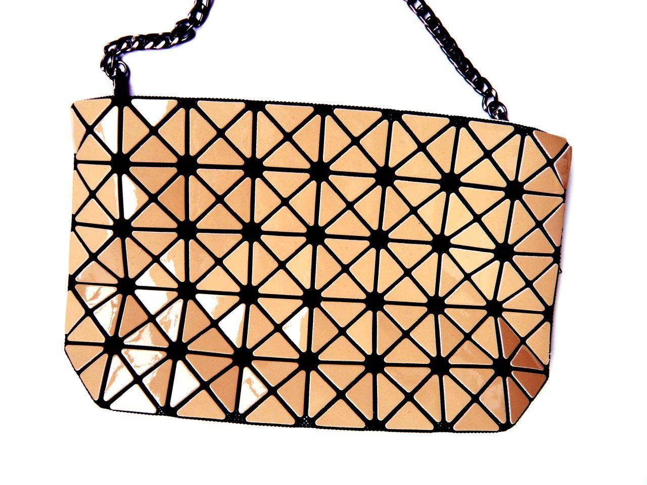 Tasche Geometric beige