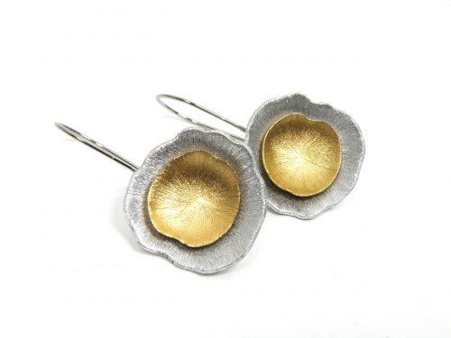 Ohrringe Aluminium gebürstet gold silber