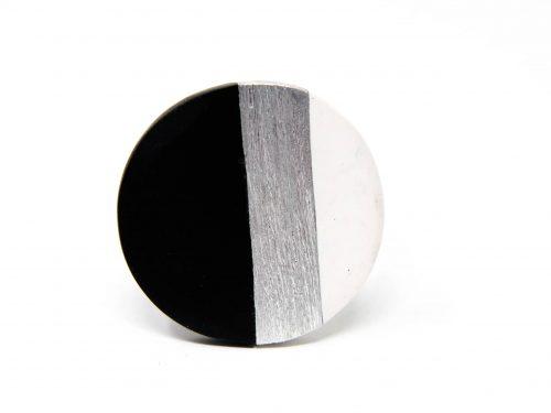 Ring Harz Aluminium schwarz weiss