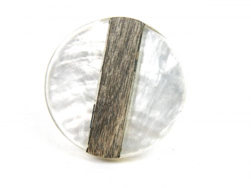 Ring Perlmutt und Holz