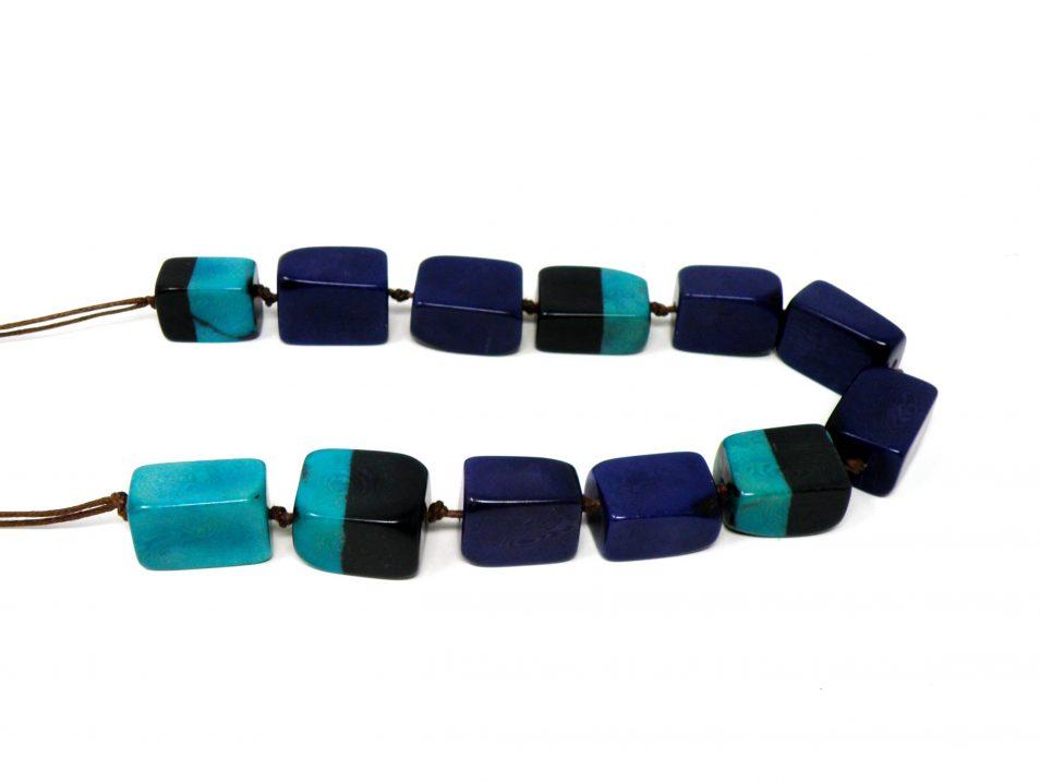 Halskette Tagua blau