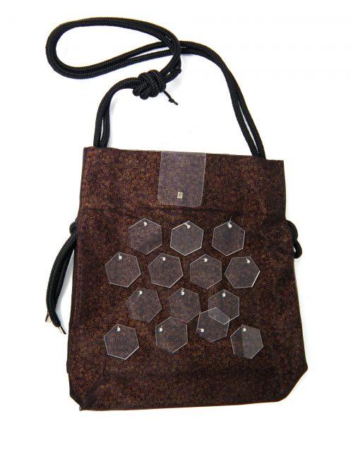 Tasche mit Plexiglas braun rot