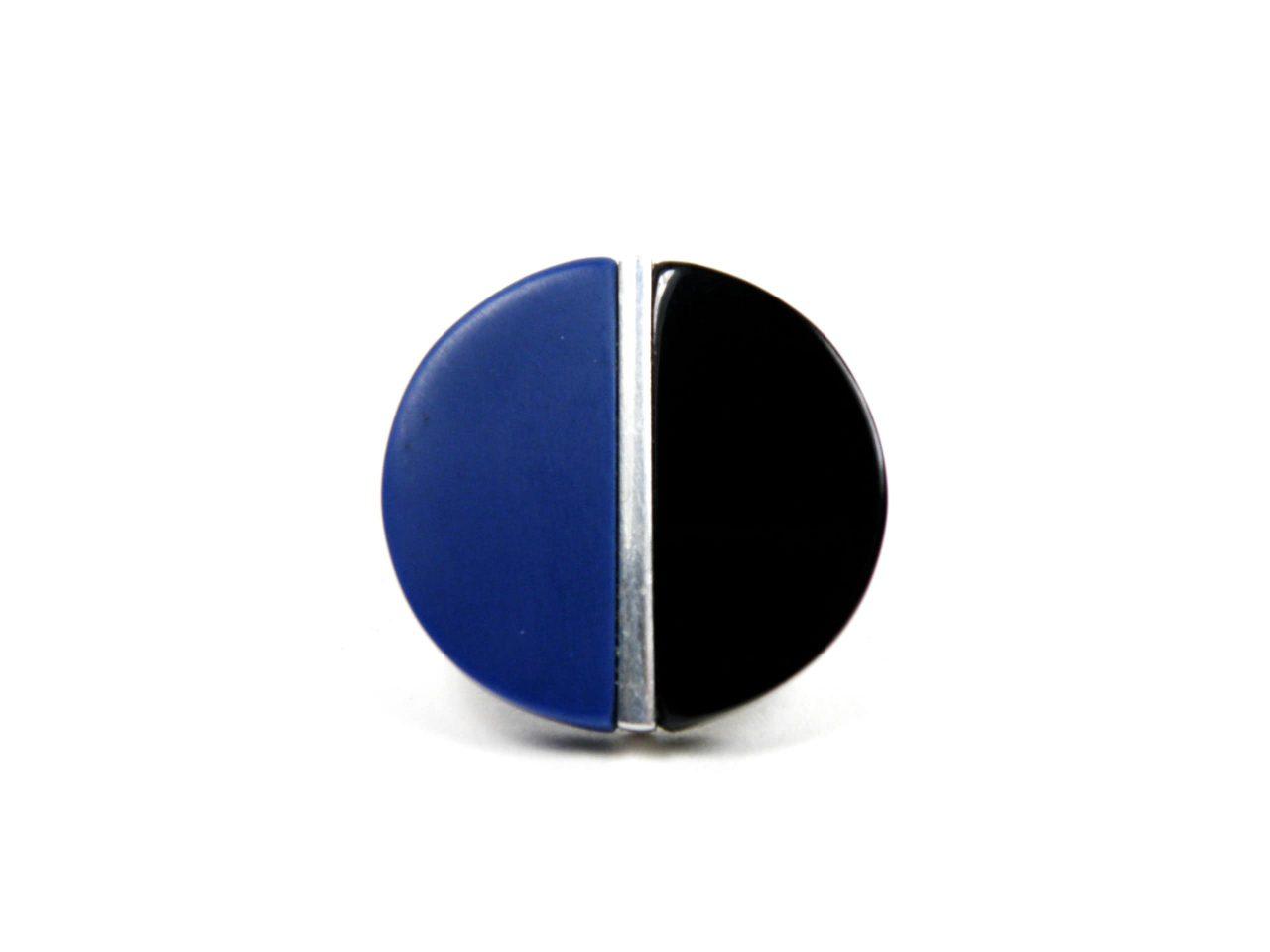 Ring Harz blau schwarz